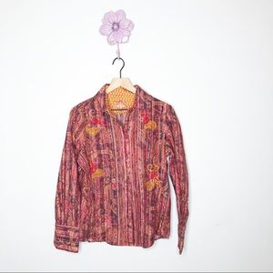 Robert Graham Red / Yellow Striped Button Down